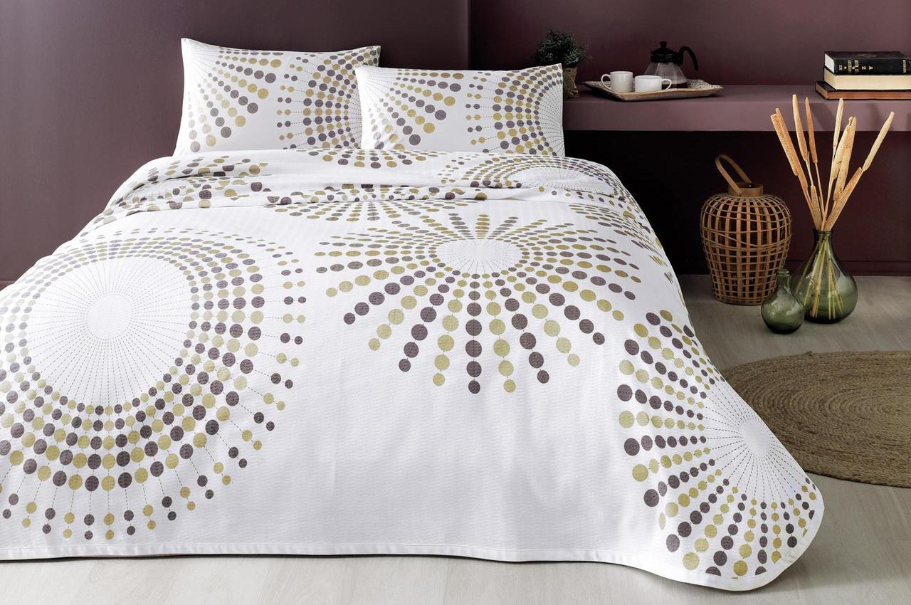 Летнее постельное белье 1.5-спальное TAC Moon V03 Kahve
