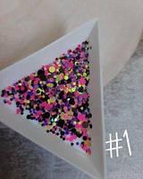 Конфетти для дизайна ногтей №1