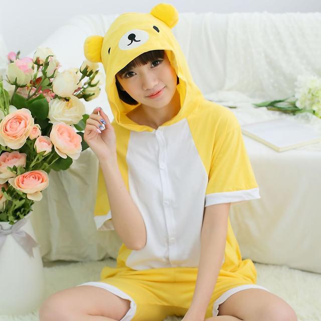 Пижама летняя кигуруми Взрослые и Детские мишка