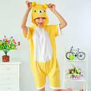 Пижама летняя кигуруми Взрослые и Детские мишка, фото 2