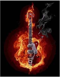 Картина по номерам - Гитара в огне