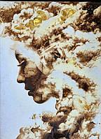 Картина из янтаря на холсте, картина з бурштину на холсті 30x40 см