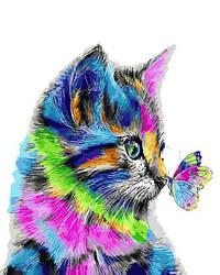 Картина по номерам - Котик в краске