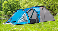 Палатка туристическая 4-ми местная с тамбуром Presto Soliter 4 сине-серая