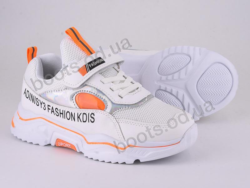 """Кроссовки  детские """"Violeta"""" #200-130 white-orange. р-р 31-36. Цвет белый. Оптом"""