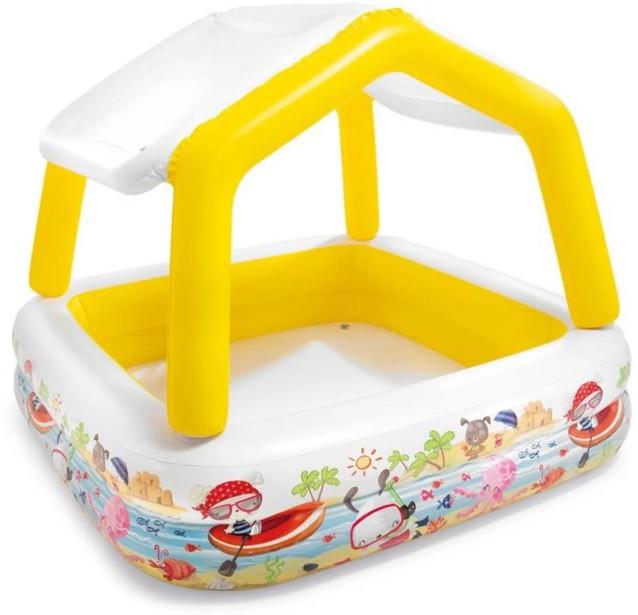 Бассейн детский надувной Домик Intex 57470