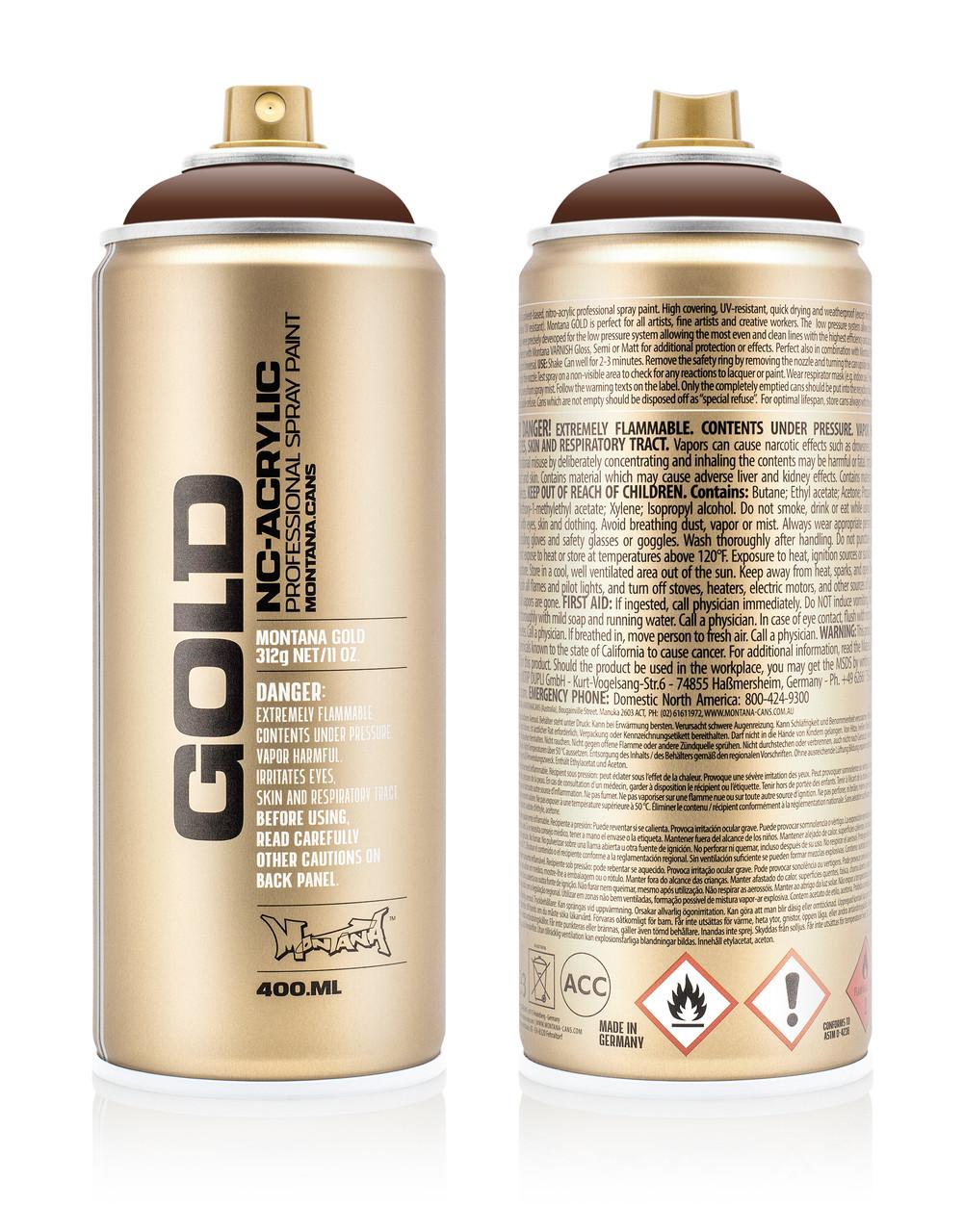 Краска Montana Gold S8010 Коричневый шок 400 мл (Brown) (285769)