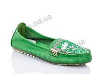 """Балетки  детские """"Леопард"""" #6076-6. р-р 32-37. Цвет зеленый. Оптом"""