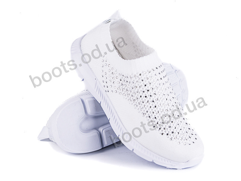 """Кроссовки  детские """"Violeta"""" #206-1 white. р-р 30-35. Цвет белый. Оптом"""