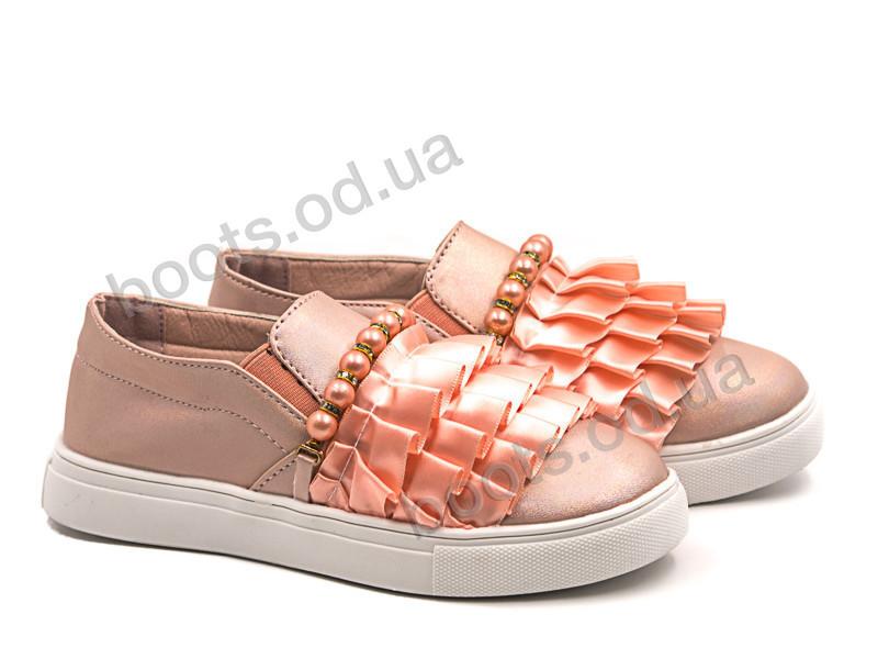 """Слипоны  детские """"Violeta"""" #200-4K pink. р-р 25-30. Цвет розовый. Оптом"""