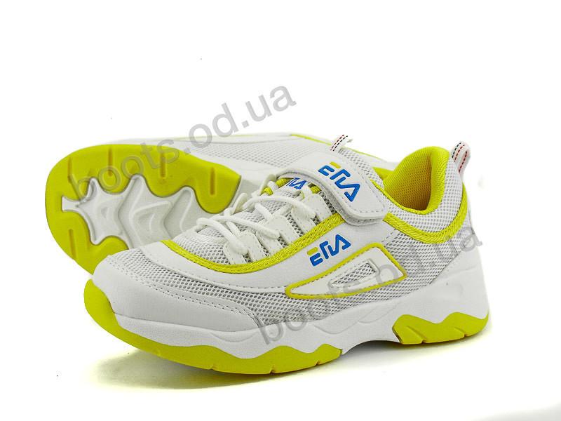 "Кроссовки  детские ""Violeta"" #206-3 white-yellow. р-р 31-36. Цвет белый. Оптом"