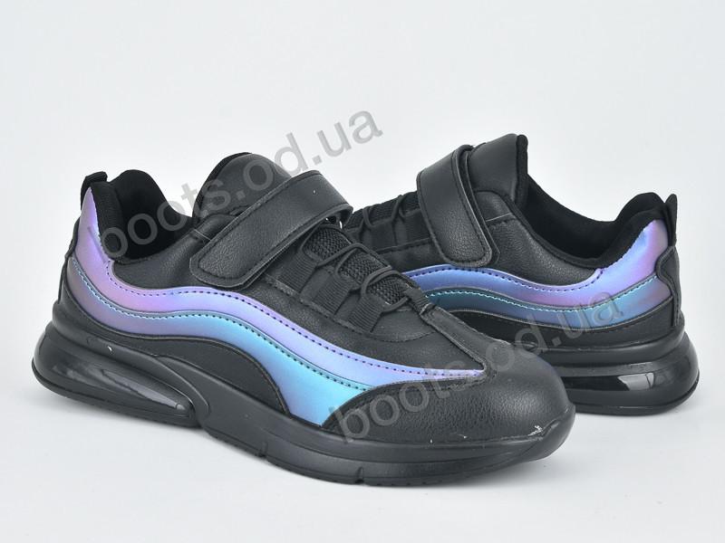 """Кроссовки  детские """"Violeta"""" #200-68 black-blue. р-р 31-36. Цвет фиолетовый. Оптом"""