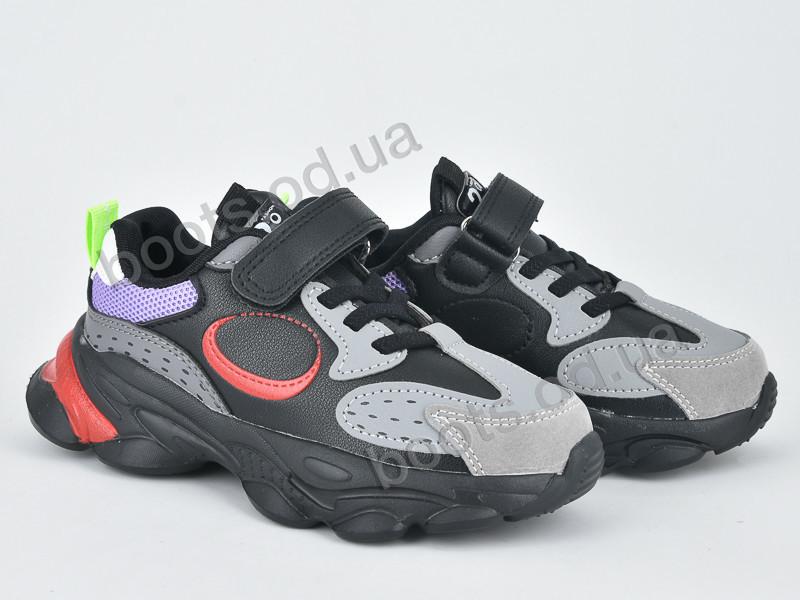 """Кроссовки  детские """"Violeta"""" #200-91K grey. р-р 25-30. Цвет черный. Оптом"""