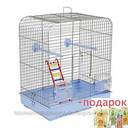 Клетка ХРОМ Белла для мелких декоративных птиц ТМ Природа 37х25х37см