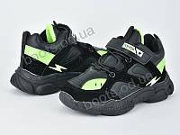 """Кроссовки  детские """"Violeta"""" #200-82K black green. р-р 25-30. Цвет черный. Оптом"""