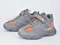 """Кроссовки  детские """"Violeta"""" #200-82K grey orange. р-р 25-30. Цвет серый. Оптом"""