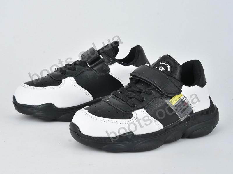 """Кроссовки  детские """"Violeta"""" #200-72K black white. р-р 25-30. Цвет черный. Оптом"""