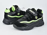 """Кроссовки  детские """"Violeta"""" #200-83 black green. р-р 31-36. Цвет черный. Оптом"""