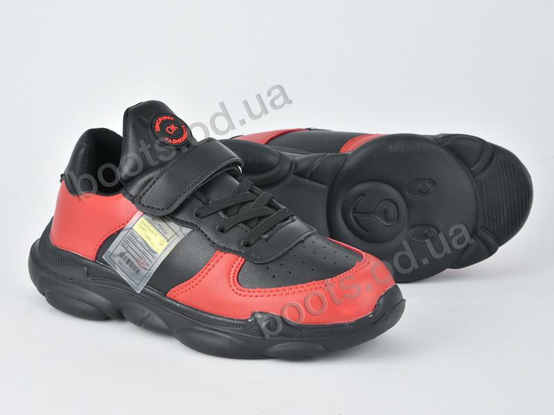 """Кроссовки  детские """"Violeta"""" #200-72 black w.red. р-р 31-36. Цвет черный. Оптом"""