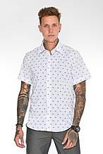 Мужская рубашка Gelix 2015-02 с коротким руковом синие