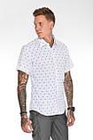 Мужская рубашка Gelix 2015-02 с коротким руковом синие, фото 4