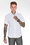 Мужская рубашка Gelix 2015-02 с коротким руковом синие, фото 5