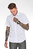 Мужская рубашка Gelix 2015-02 с коротким руковом синие, фото 9