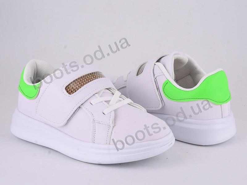 """Кроссовки  детские """"Violeta"""" #200-96 white-green. р-р 31-36. Цвет белый. Оптом"""