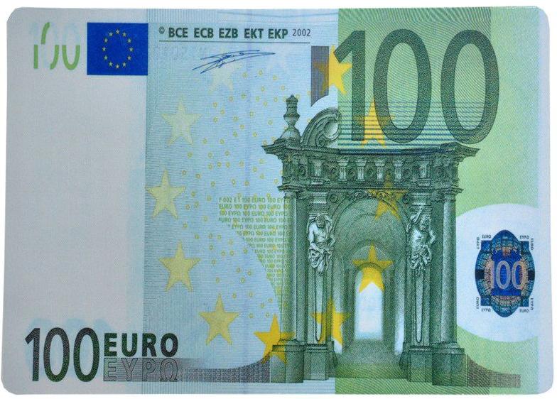 """Коврик для мышки 20x28 с рисунком """"100 евро"""""""