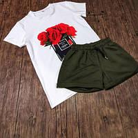 Стильный женский комплект футболка