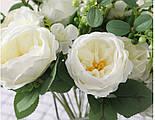 Букет розы Остин с бутонами и ягодами  46 см  белая, фото 5