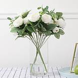 Букет розы Остин с бутонами и ягодами  46 см  белая, фото 4