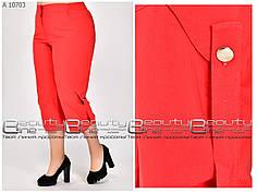 Модные летние женские бирюзовые  капри  батал  с 52 по 68 размер, фото 3