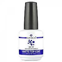 Топ матовий Atica Matte Top Coat Soak Off, 15ml