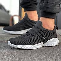Мужские кроссовки черные в стиле Adidas Alphabounce Instinct
