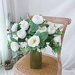 Букет розы Остин с бутонами и ягодами  46 см  белая, фото 2