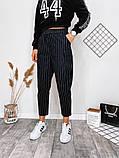 Модные брюки в полоску вертикальную укороченные норма, два цвета р.42,44,46 код 753Г, фото 5