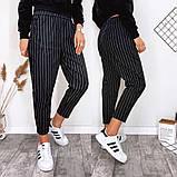 Модные брюки в полоску вертикальную укороченные норма, два цвета р.42,44,46 код 753Г, фото 3