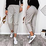 Модные брюки в полоску вертикальную укороченные норма, два цвета р.42,44,46 код 753Г, фото 6