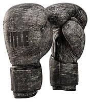 Оригинальные Боксерские Перчатки TITLE Distressed Glory Training Gloves - Grey