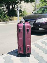 Большой пластиковый чемодан из поликарбоната бордовый на 4-х колесах / Велика пластикова валіза, фото 3