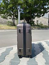 Большой пластиковый чемодан из поликарбоната кофейный на 4-х колесах / Велика пластикова валіза, фото 3