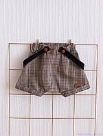 """Детские шорты на подтяжках """"Rory"""", коричневые, фото 1"""