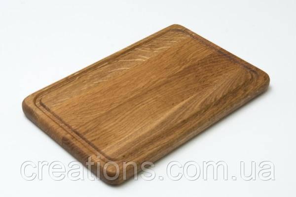 Разделочная доска 25х20 см. кухонная деревянная клееная доска для подачи (ясень, дуб) РД-8