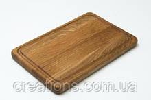 Разделочная доска 25х20 см. кухонная деревянная клееная доска для подачи (ясень, дуб) РД-9