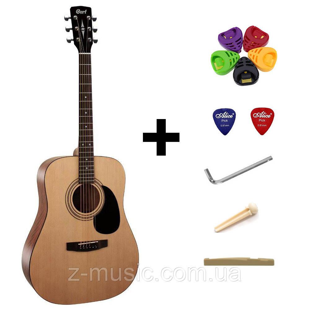 Гитара акустическая Cort AD810 OP + порожек, зажим, копилка и 2 медиатора