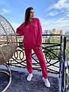 Спортивный женский летний костюм с объемным худи и штанами на манжетах 72so970, фото 2
