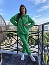 Спортивный женский летний костюм с объемным худи и штанами на манжетах 72so970, фото 6