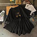 Женский летний костюм с расклешенными шортами и футболкой из трикотажа 77ks794, фото 2