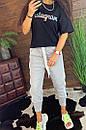 Женские спортивные штаны на резинке и щироких манжетах внизу 44bu487, фото 4